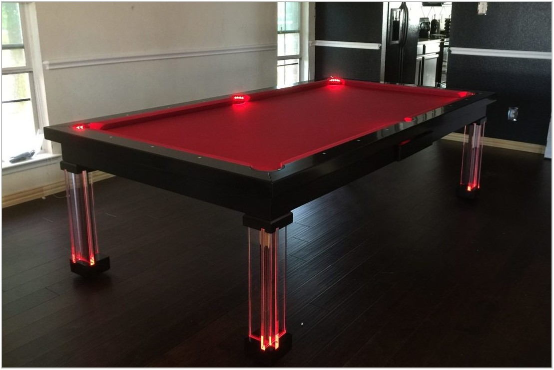 Pool And Dining Room Table