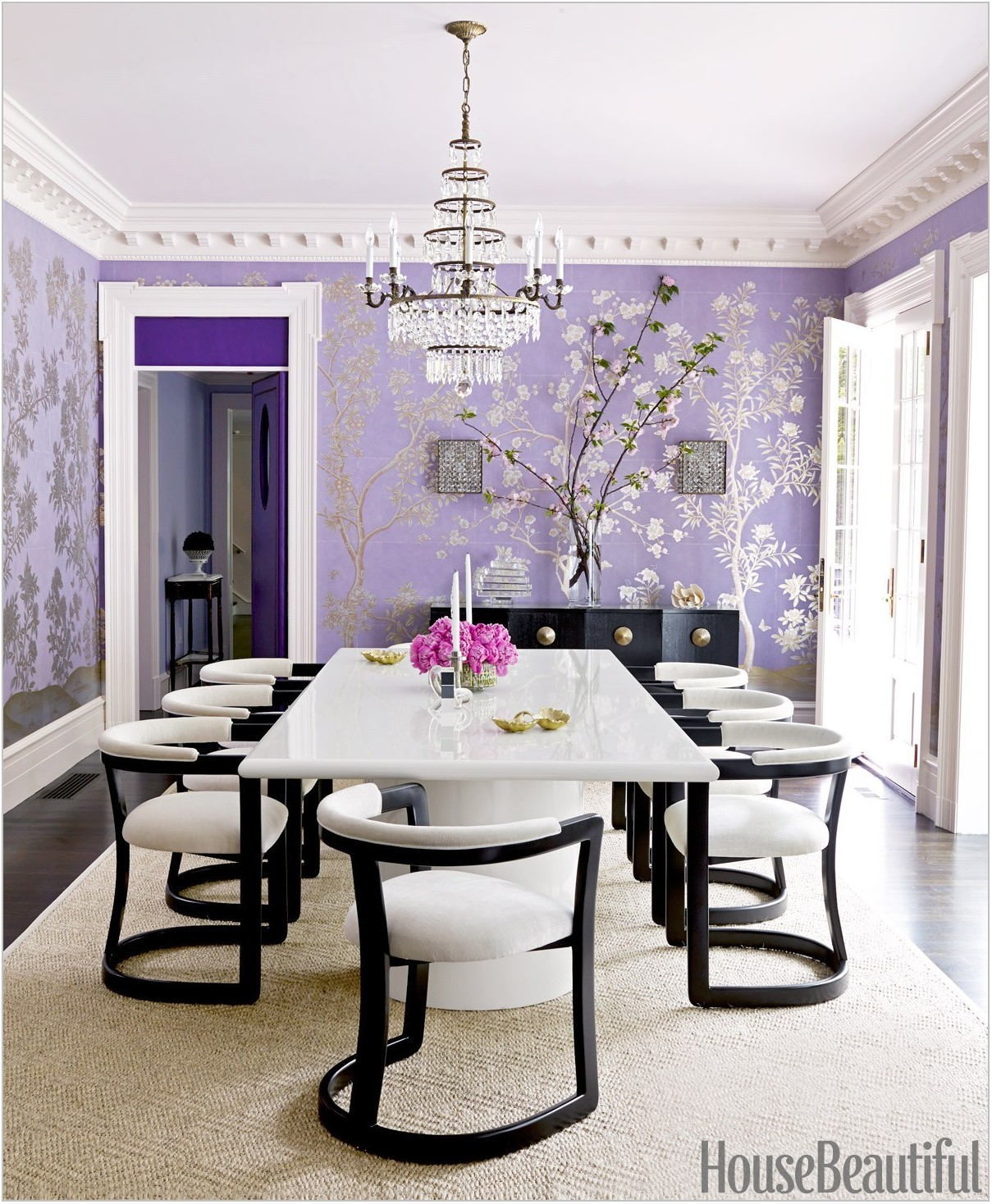 Purple Dining Room Decorating Ideas