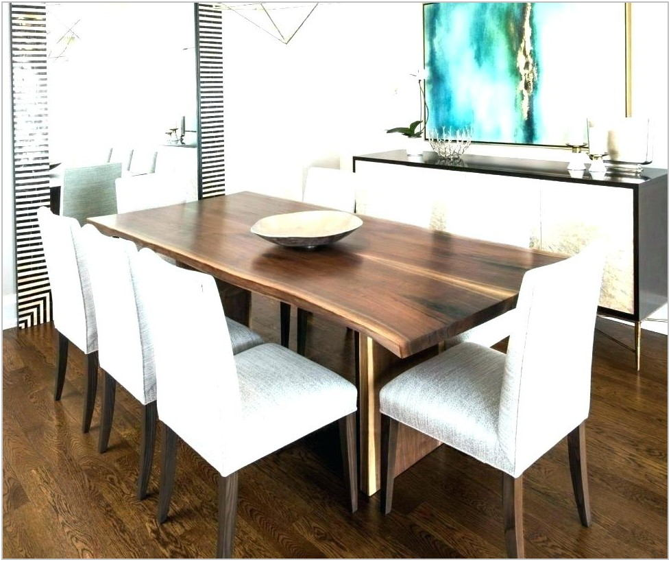 Raw Edge Dining Room Table