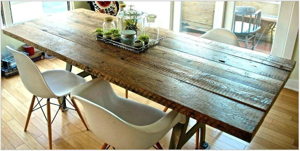 Reclaimed Wood Dining Room Set