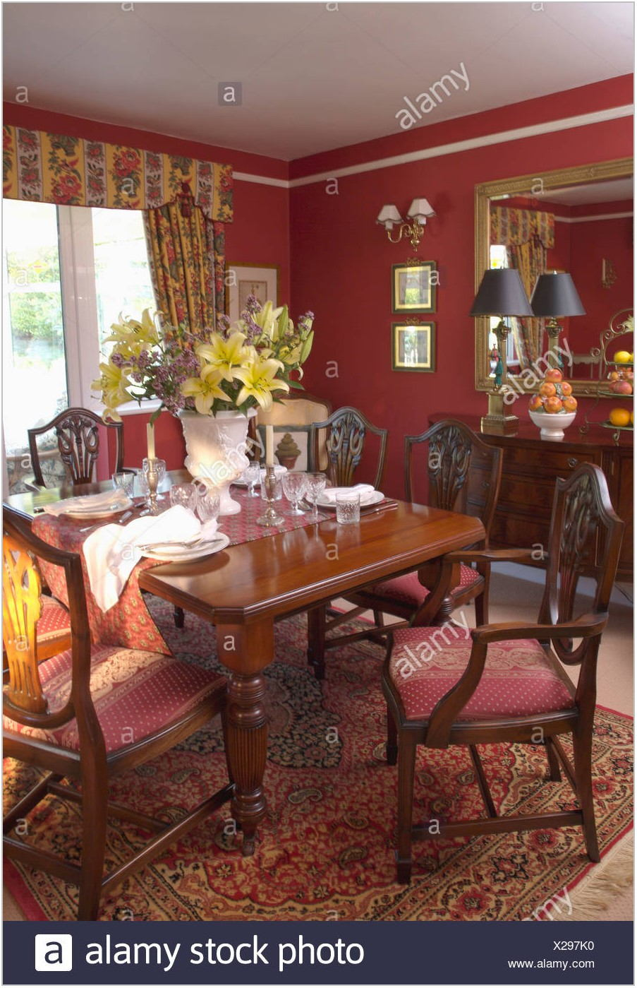 Red Dining Room Rug