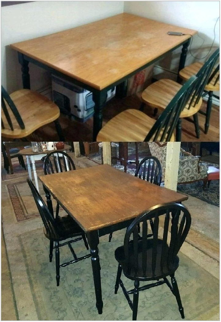 Refinish Dining Room Table Veneer Top