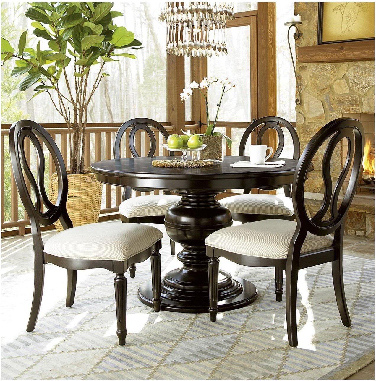 Round Black Dining Room Set