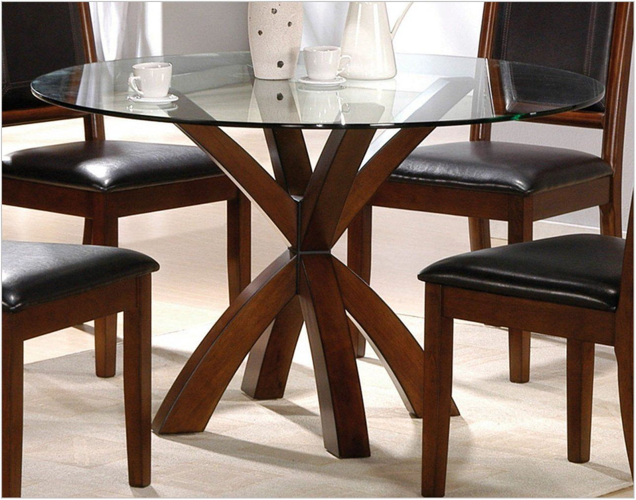 Round Dining Room Table Glass Top