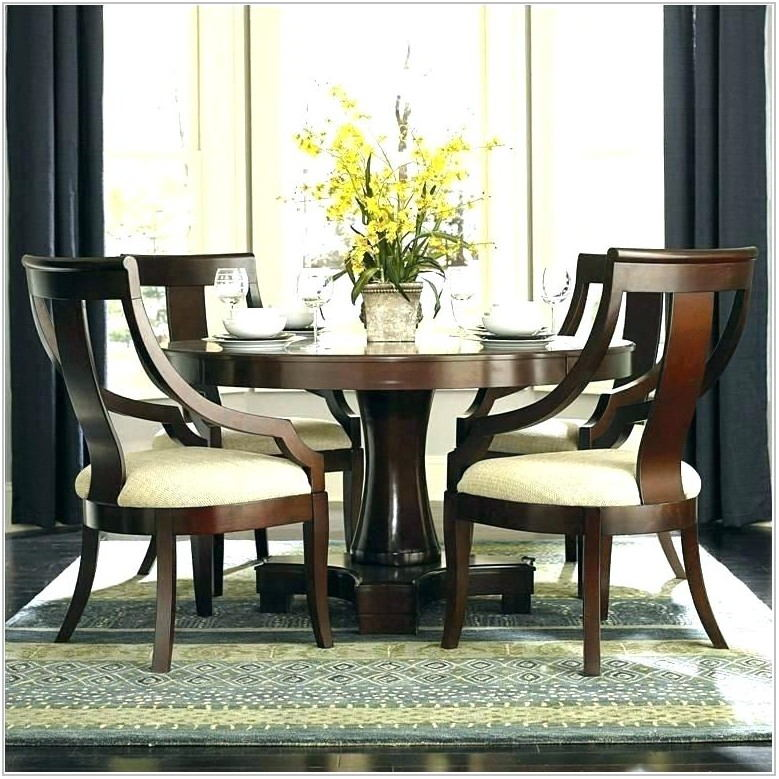 Round Dining Room Table Set For 4