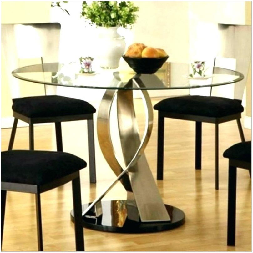 Round Dining Room Tables Glass Top