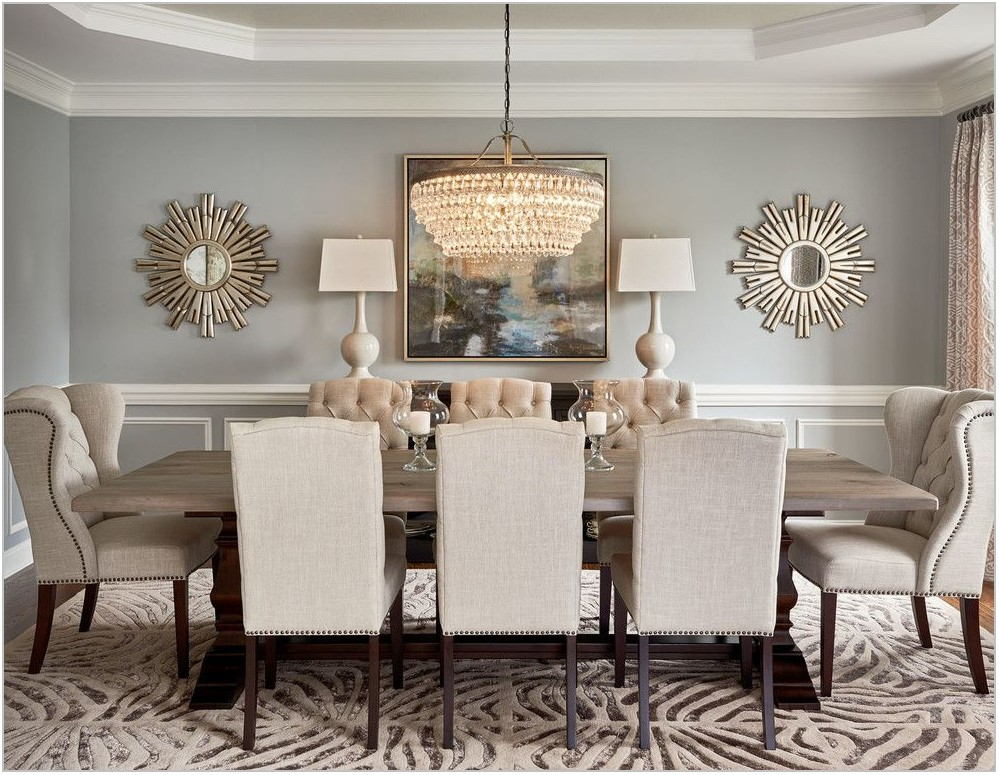 Round Mirror Dining Room