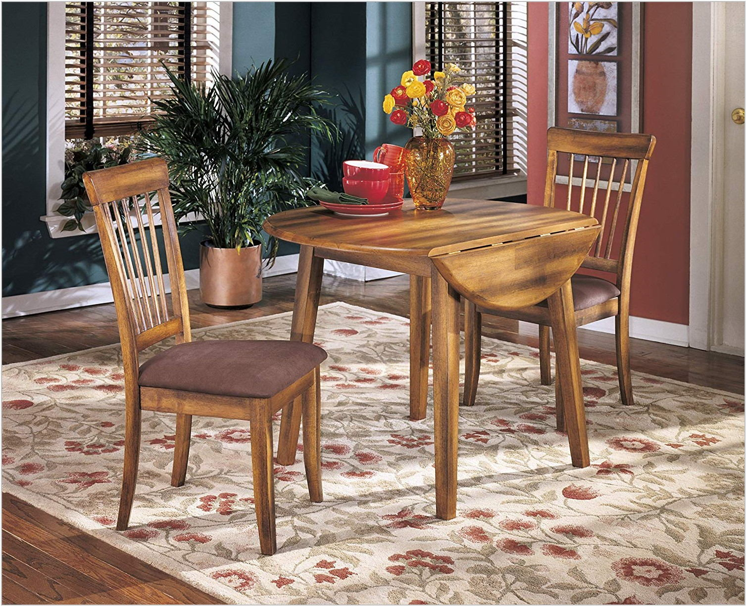 Rustic Dining Room Table With Leaf
