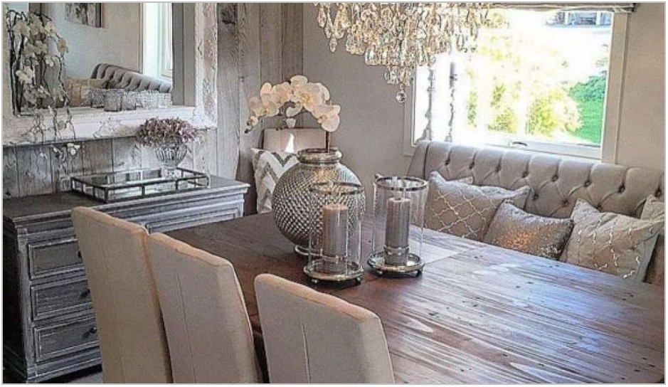 Rustic Glam Dining Room Sets
