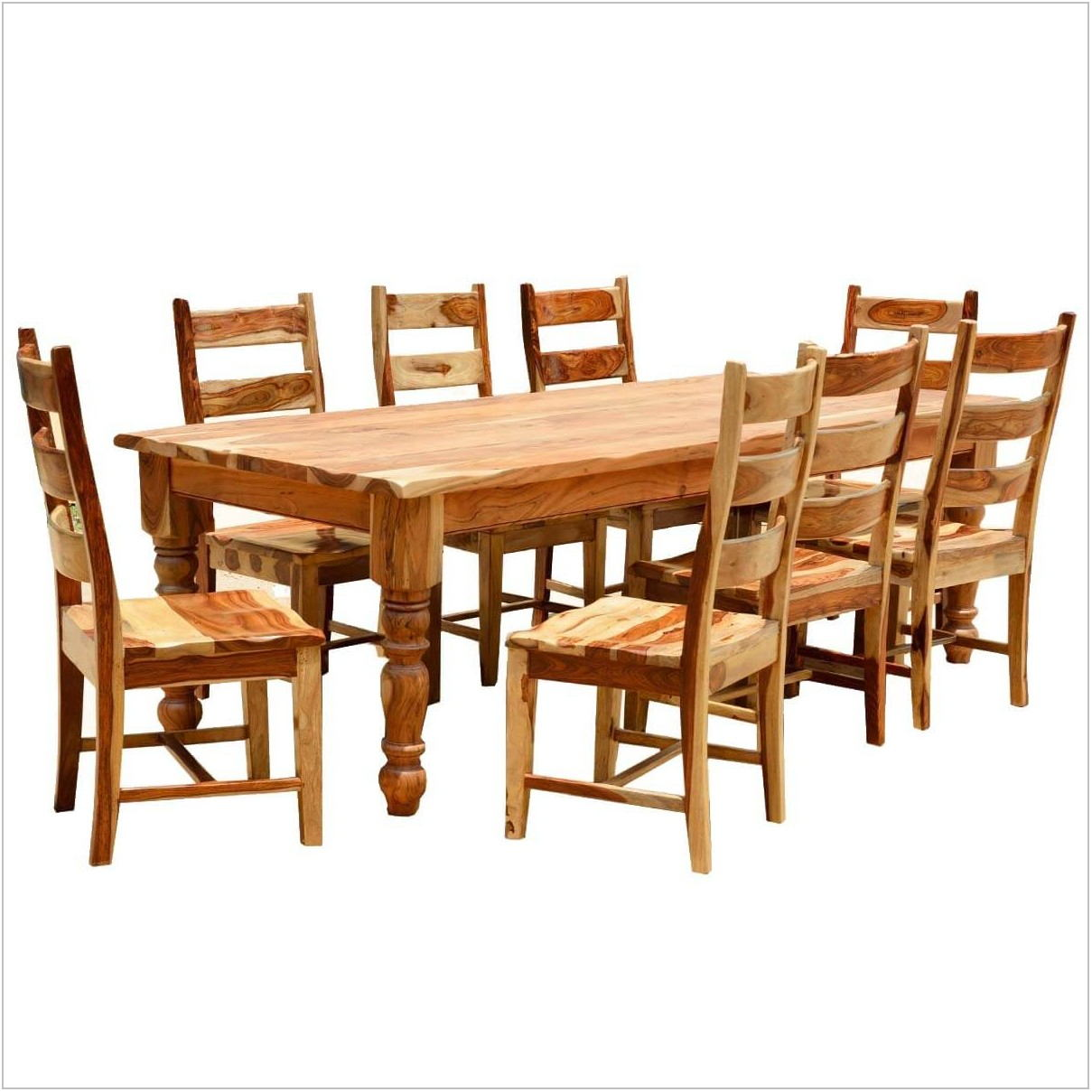 Rustic Solid Wood Dining Room Table