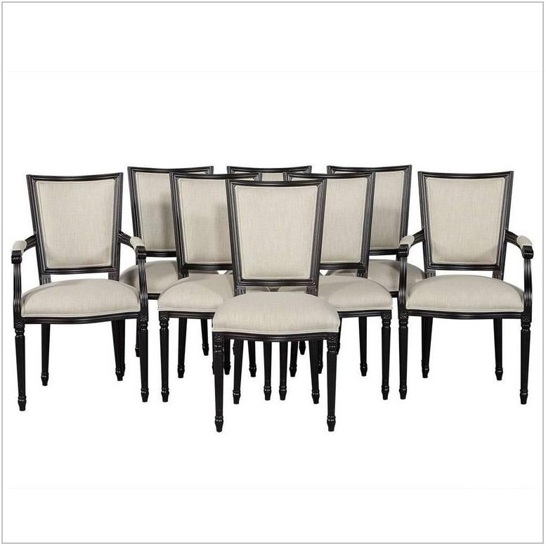 Set Of Eight Dining Room Chairs