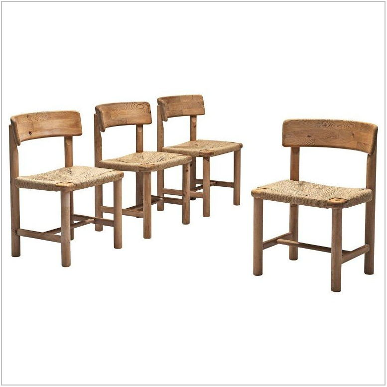Set Of Four Dining Room Chairs