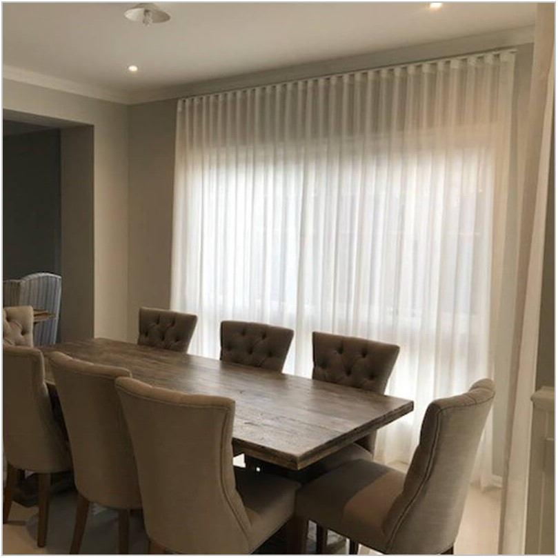 Sheer Dining Room Curtains