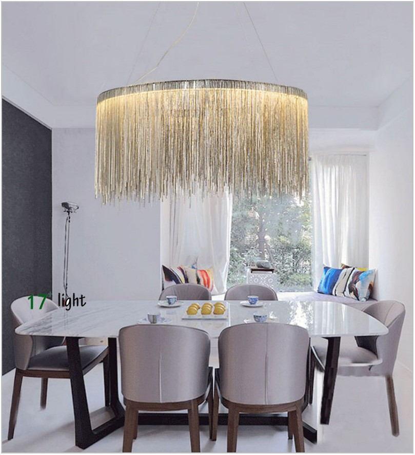 Silver Dining Room Light