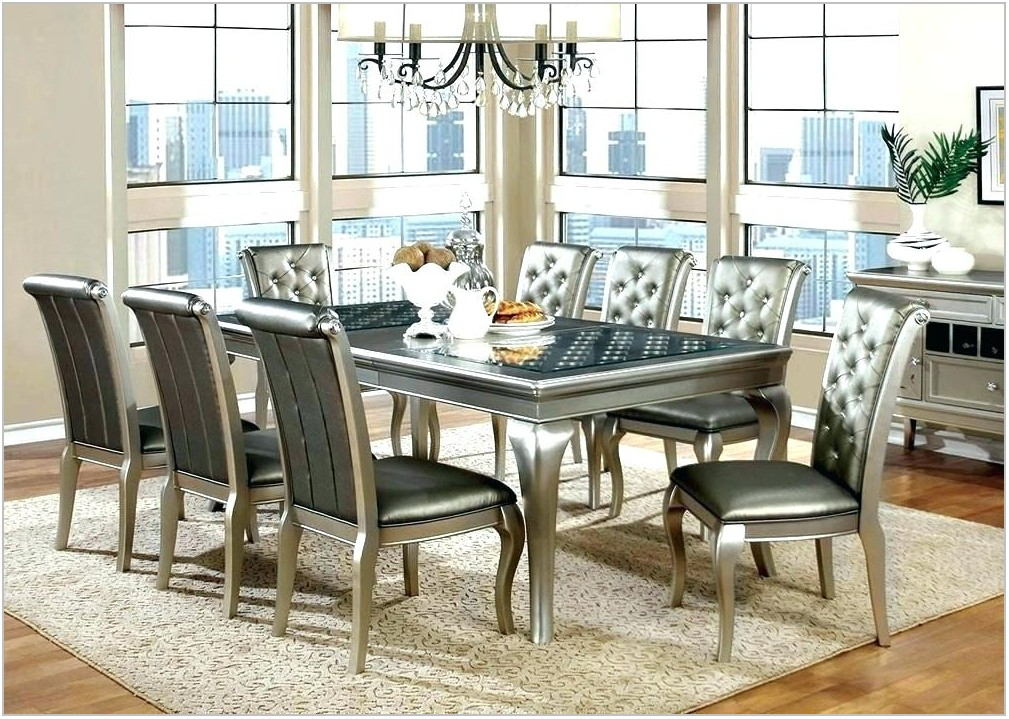 Silver Formal Dining Room Set