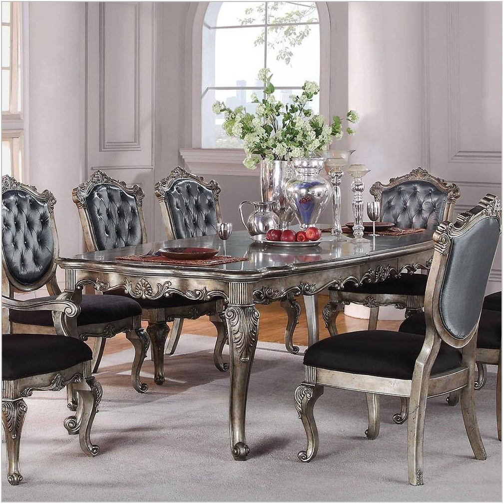 Silver Gray Dining Room Set