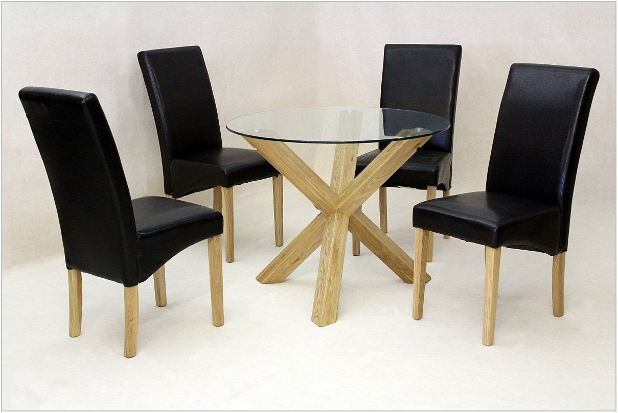 Solid Oak Round Dining Room Table