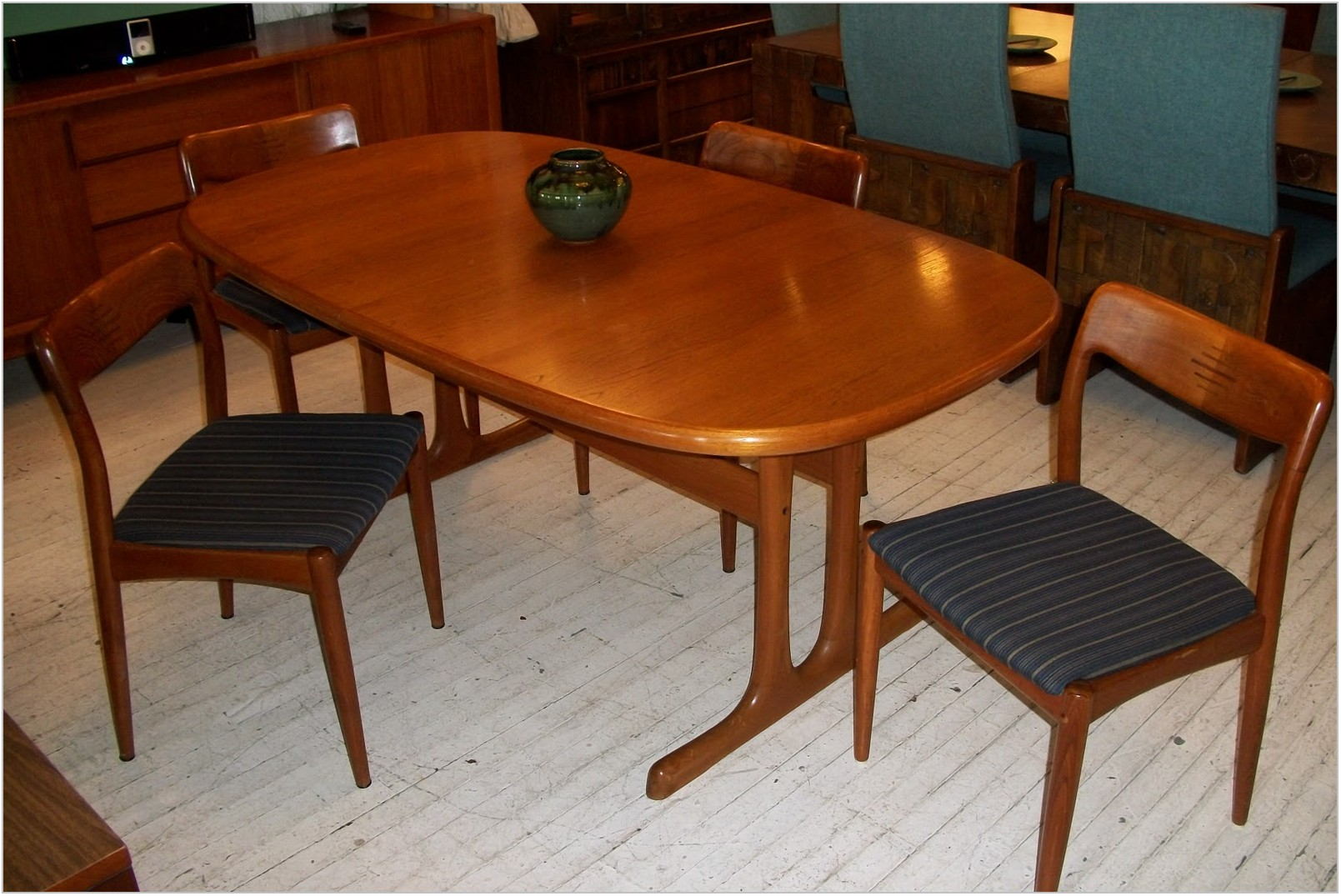 Solid Teak Dining Room Table