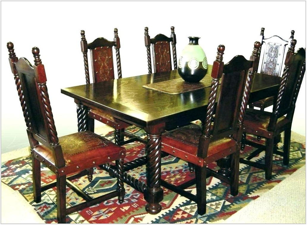Spanish Style Dining Room Set