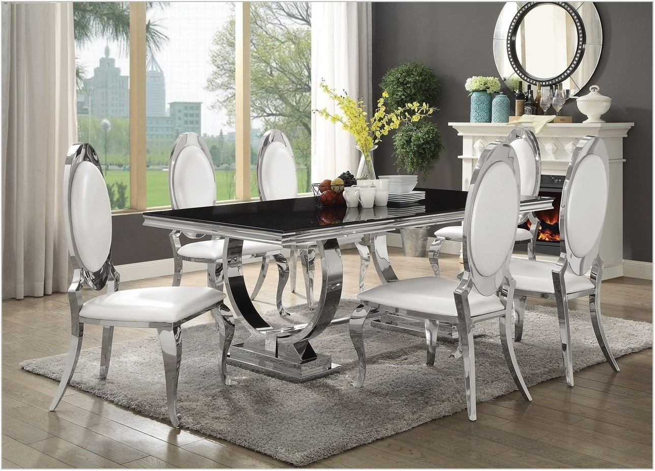 Steel Dining Room Table