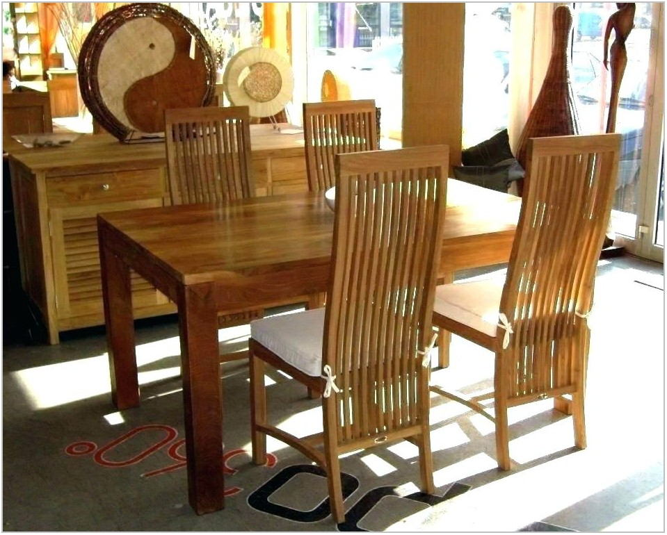 Teak Dining Room Set For Sale