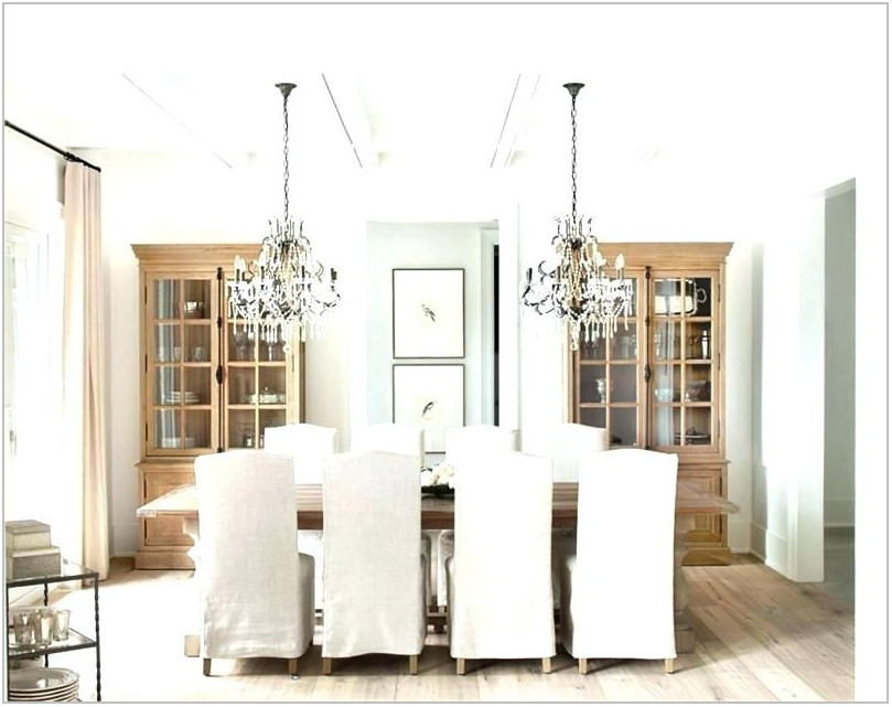 Transitional Chandelier Dining Room