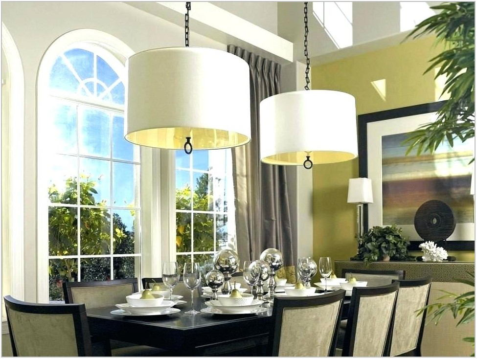 Transitional Style Dining Room Lighting