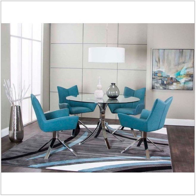 Turquoise Dining Room Set