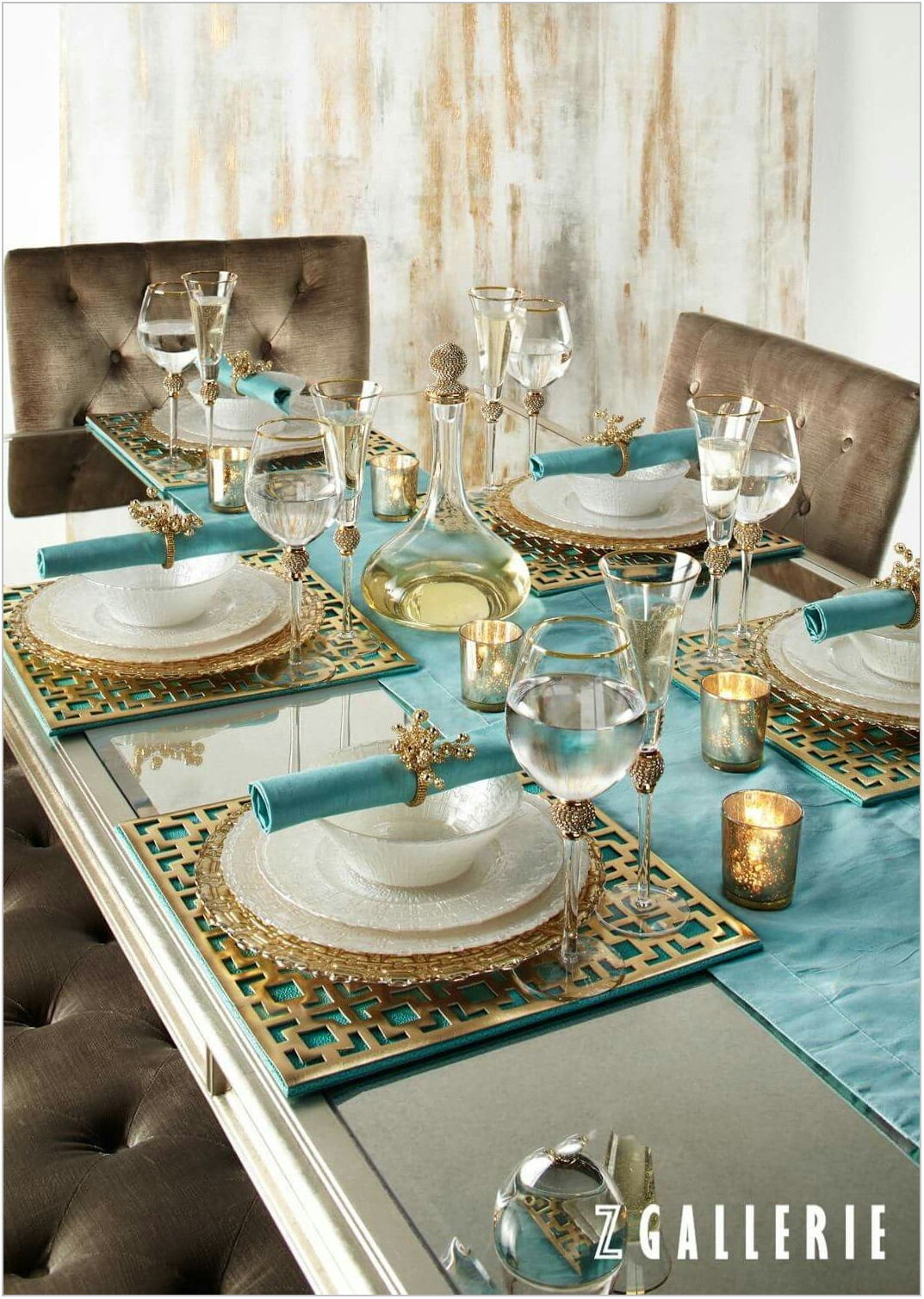 Turquoise Dining Room Table