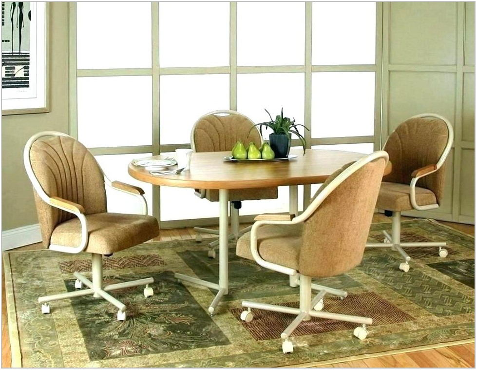 Upholstered Dining Room Chairs With Wheels