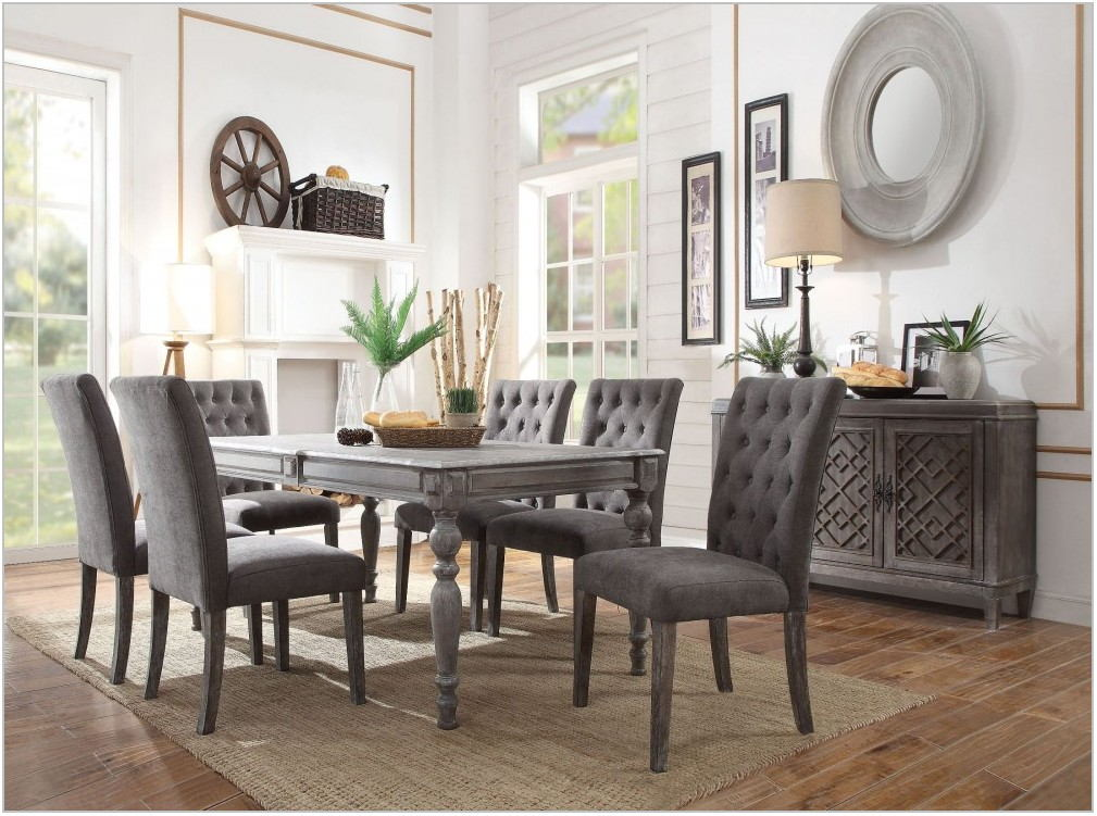 Weathered Gray Dining Room Set
