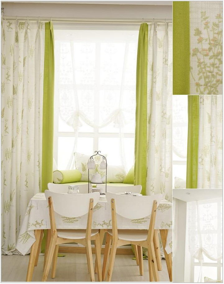 White Dining Room Curtains