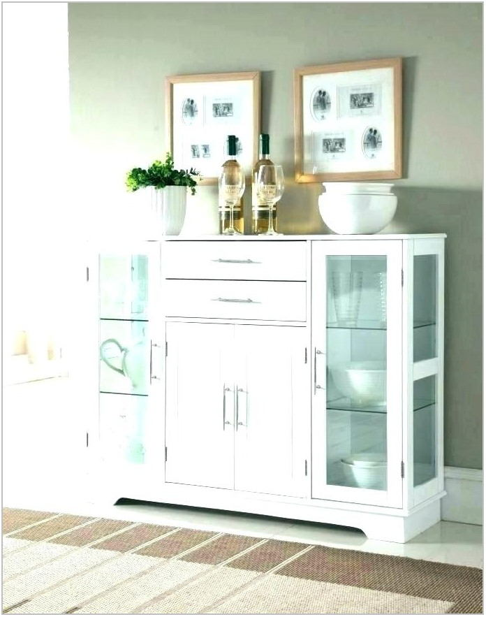 White Dining Room Hutch Buffet