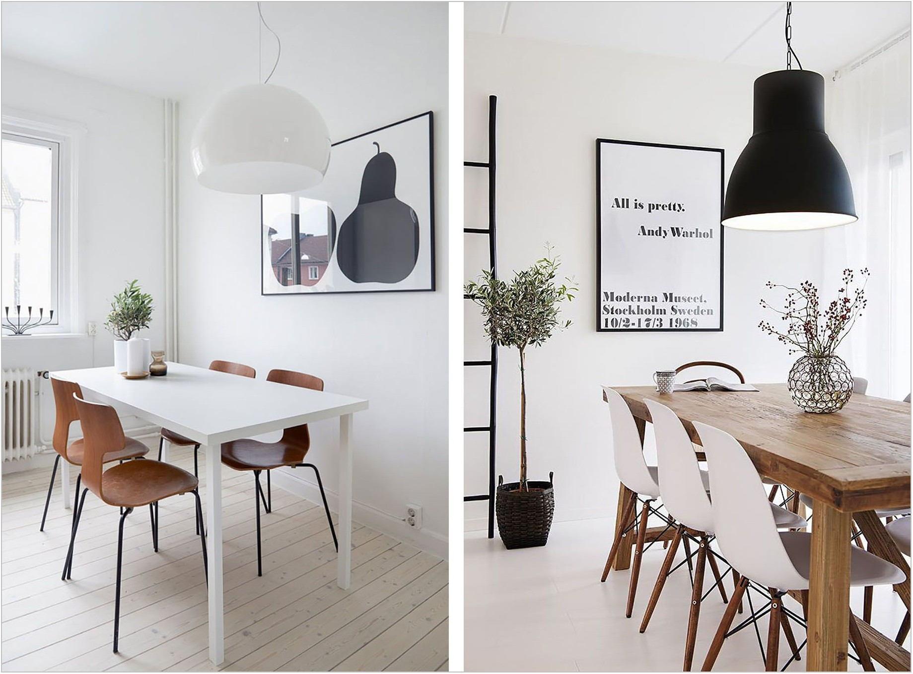 White Dining Room Light