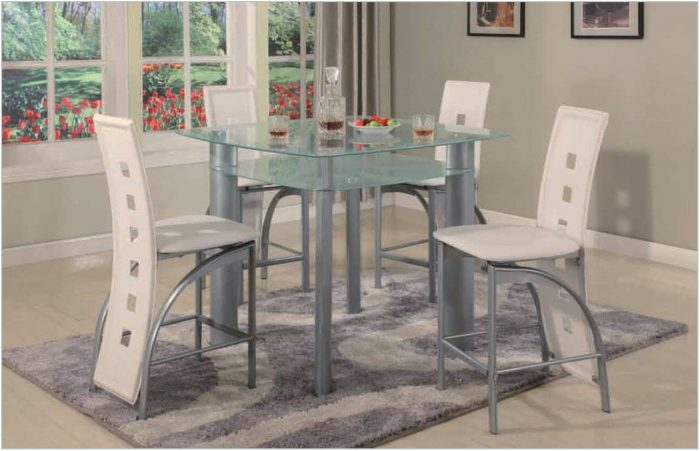 White Glass Dining Room Sets
