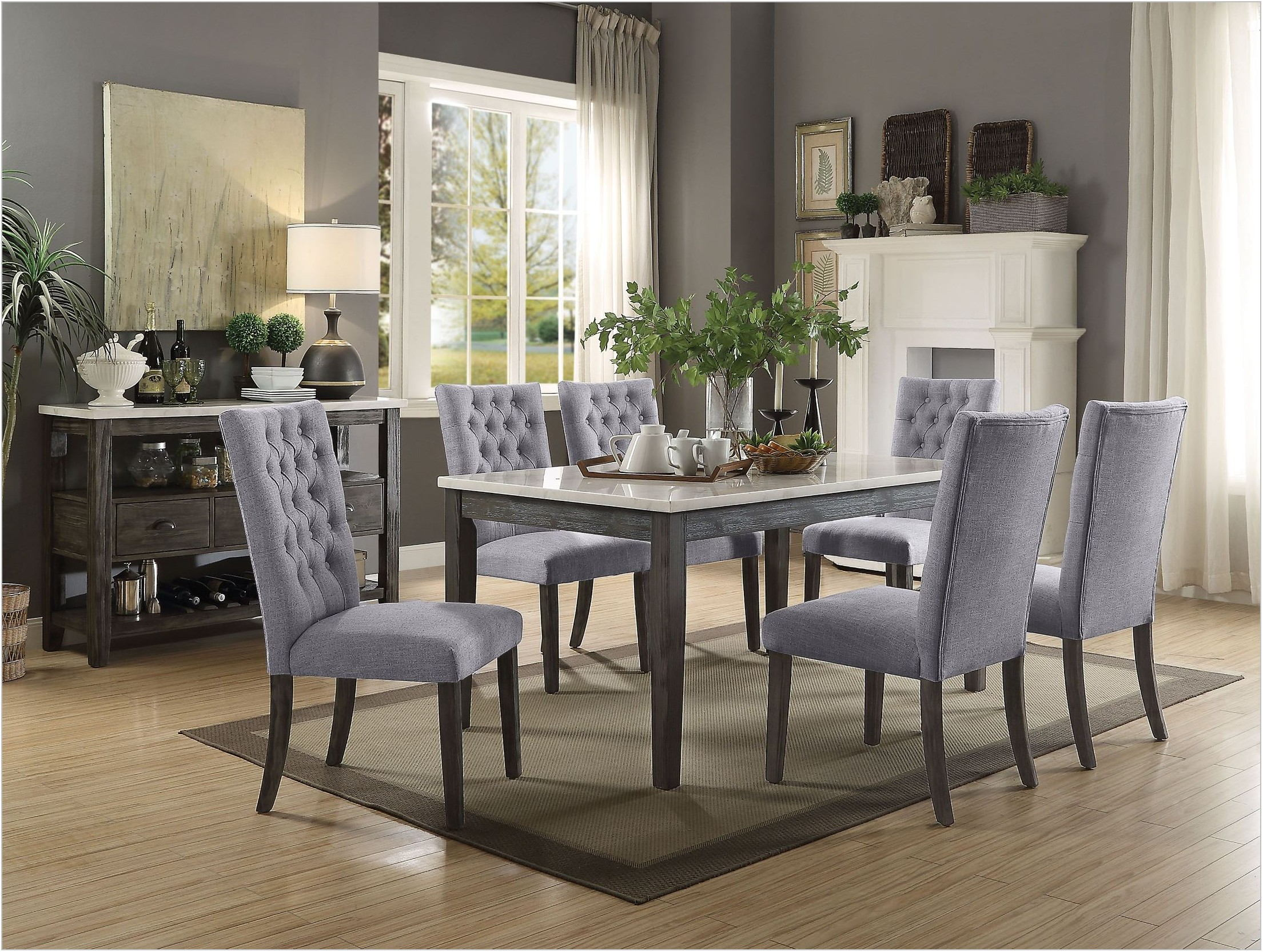 White Oak Dining Room Set