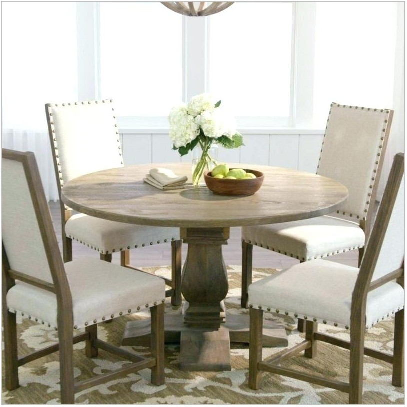 White Round Dining Room Table And Chairs