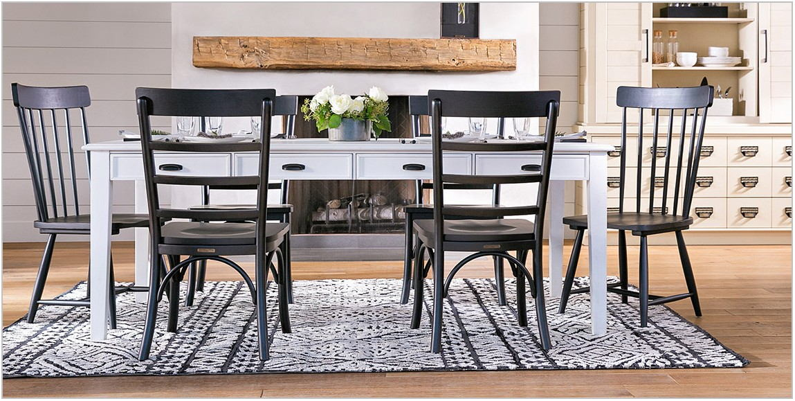 White Rustic Dining Room Table