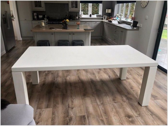 White Washed Dining Room Table