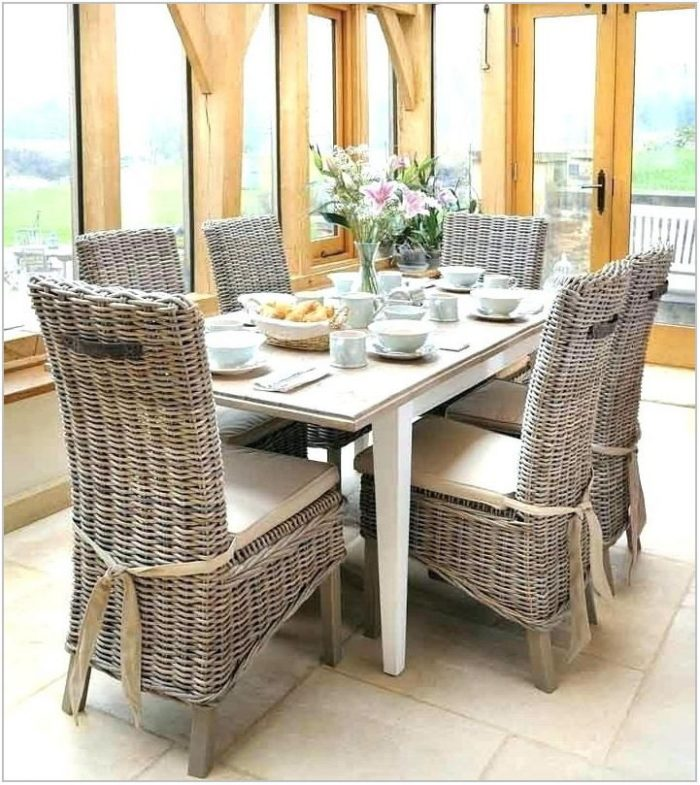 White Wicker Dining Room Chairs