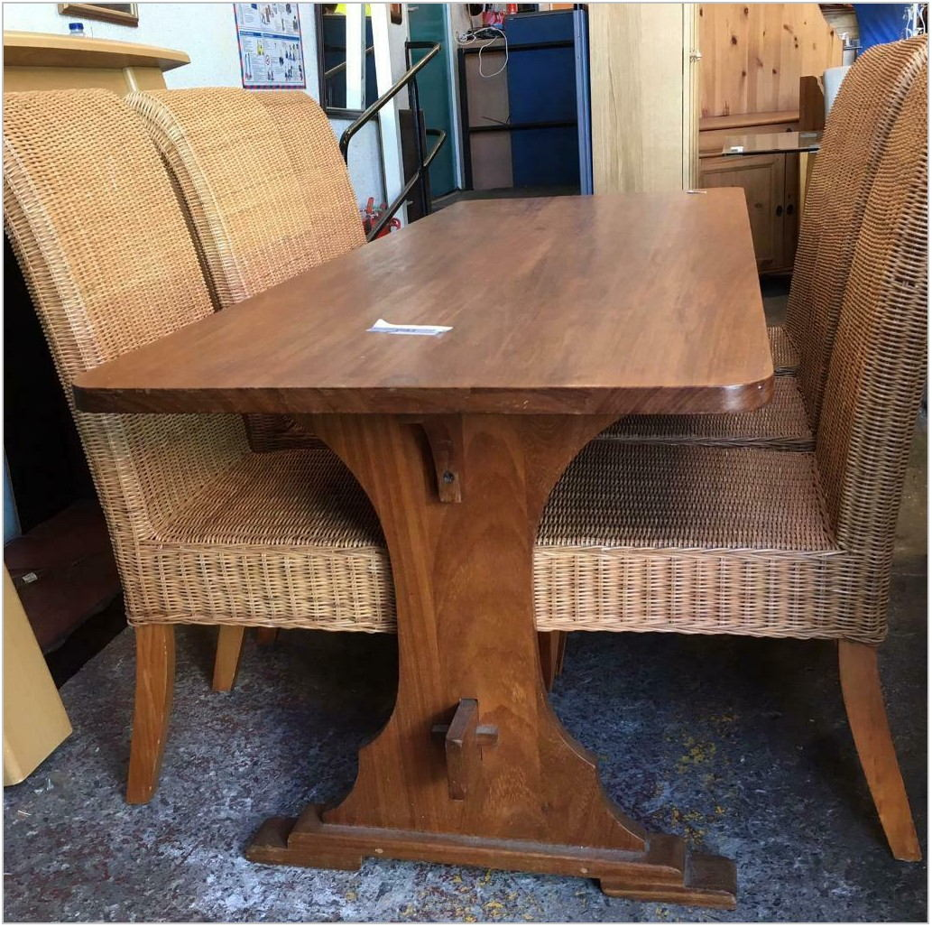 Wicker Dining Room Table And Chairs