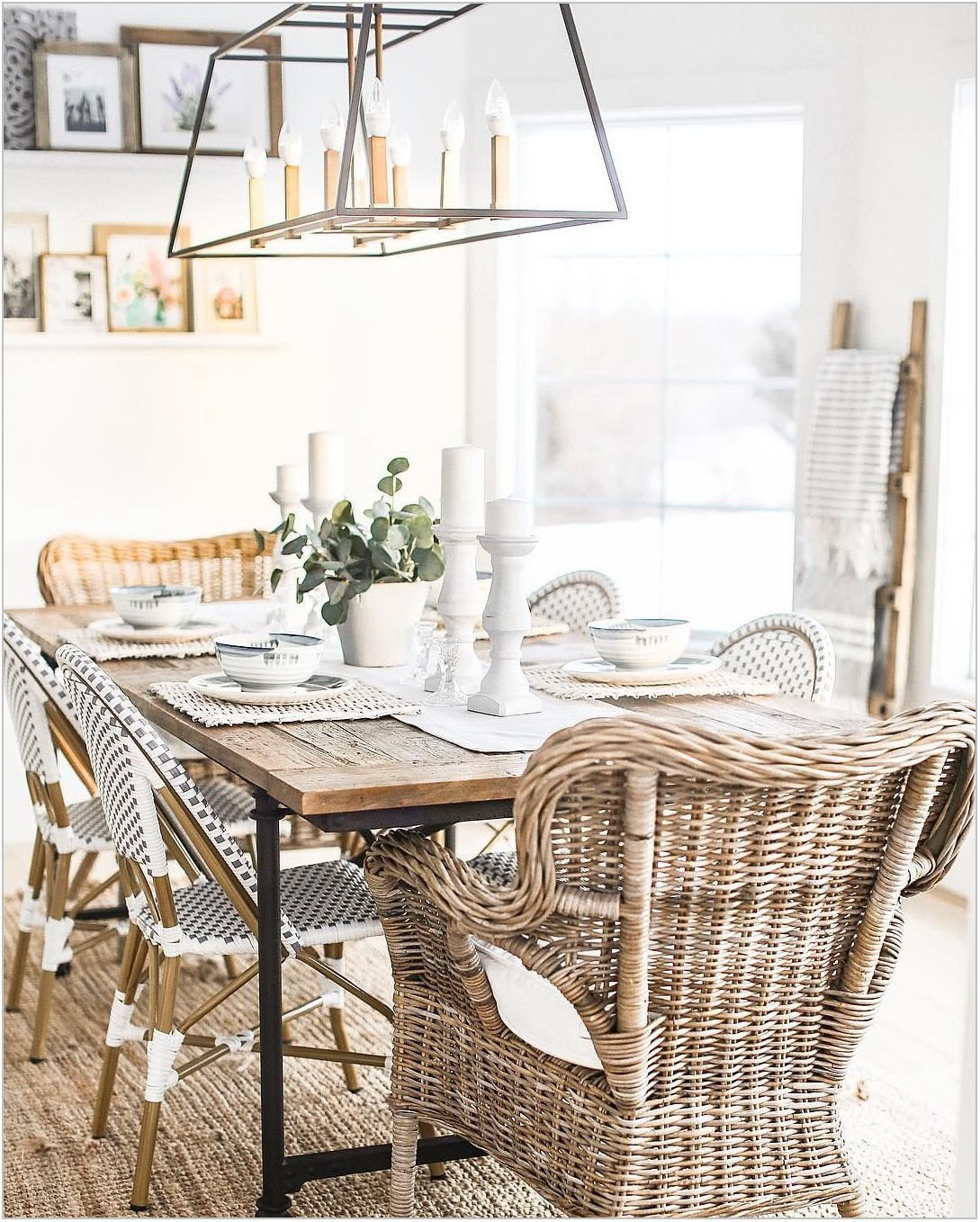 Wicker Dining Room Table