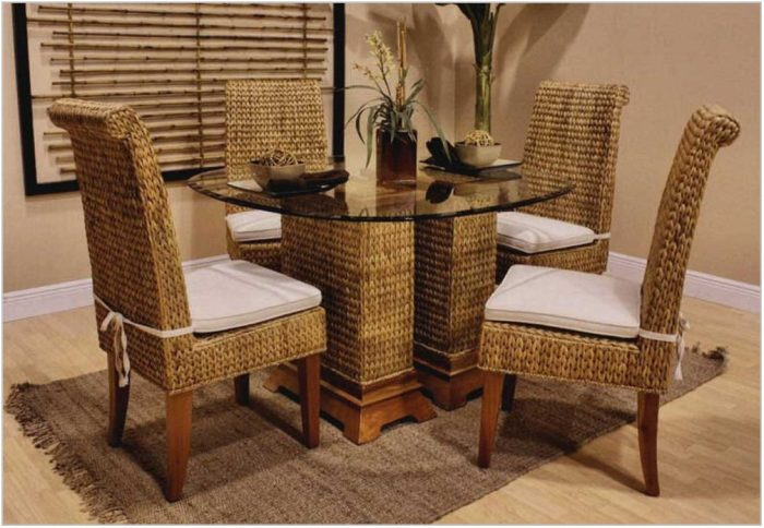 Wicker Rattan Dining Room Chairs