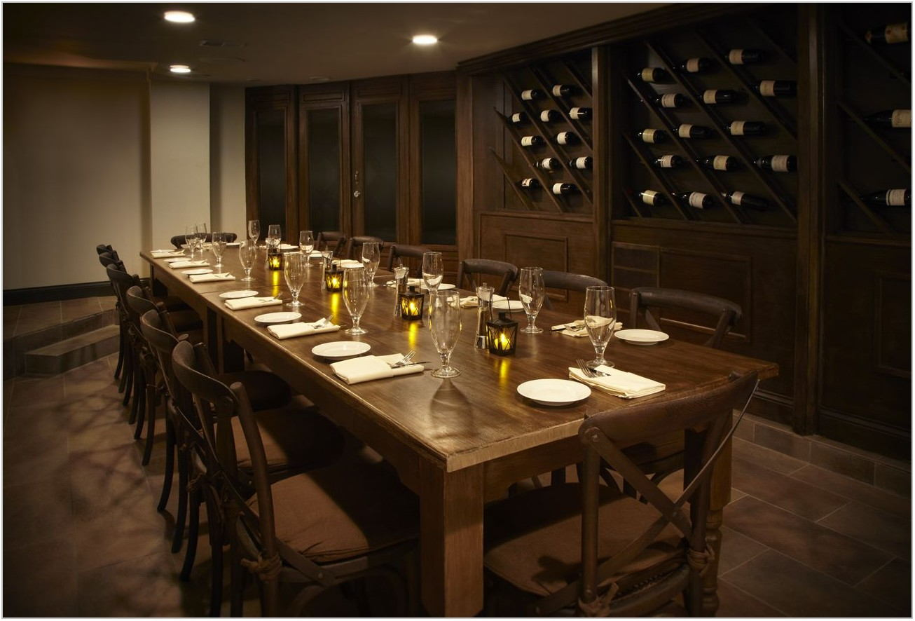 Wine Cellar In Dining Room