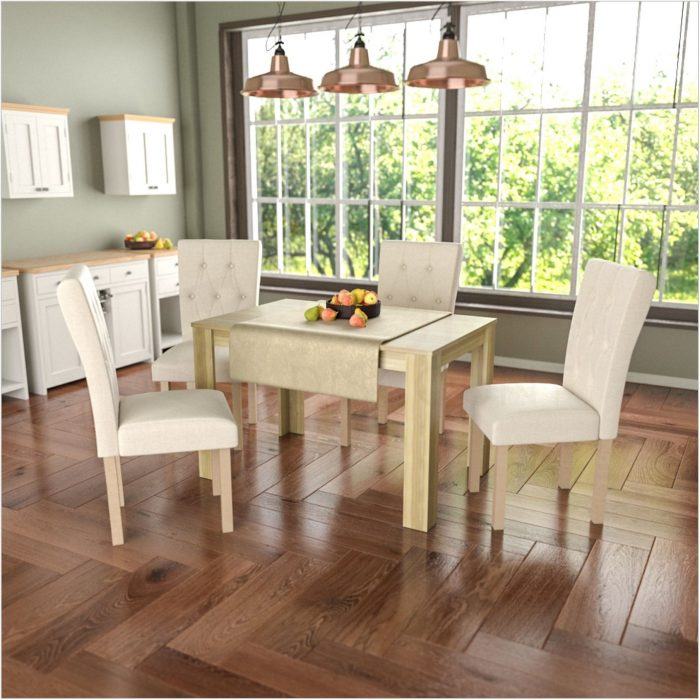 Wood And Fabric Dining Room Chairs