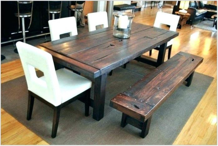 Wood Dining Room Sets With Bench