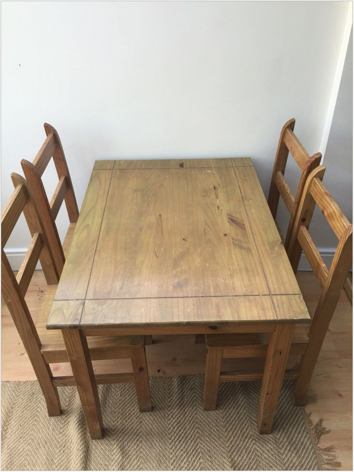 Wood Dining Room Table With Chairs
