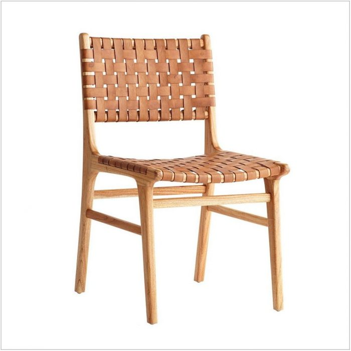 Woven Leather Dining Room Chairs