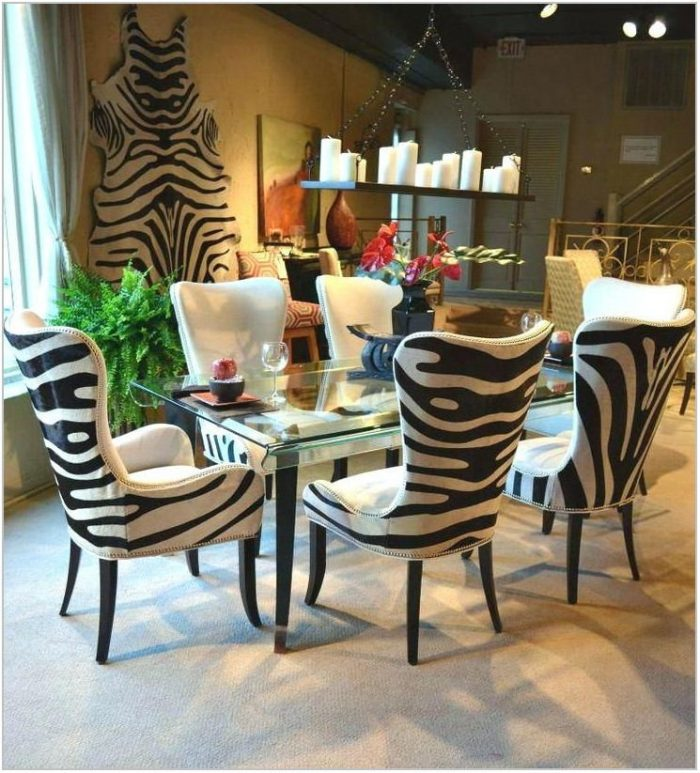 Zebra Dining Room Chairs