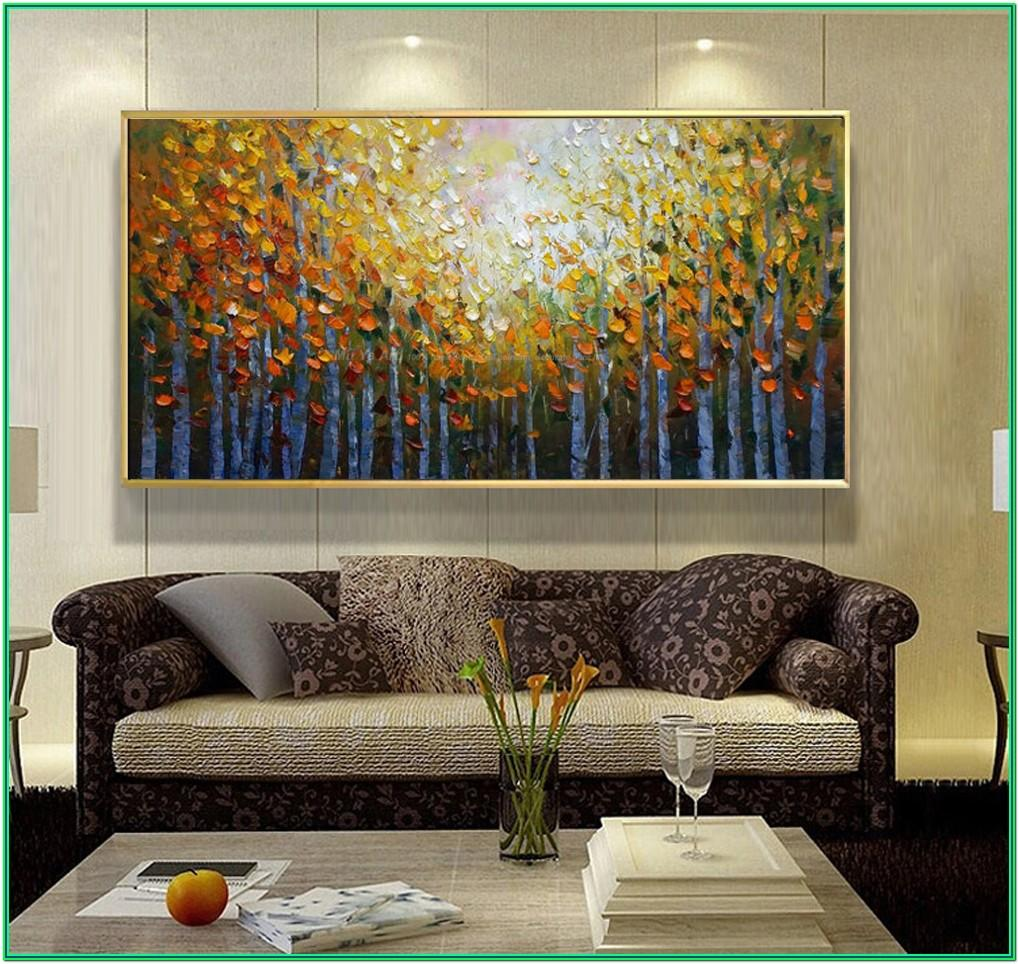 Abstract Artwork Ideas For Living Room